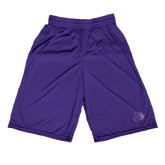 Midcourt Performance Purple 9 Inch Game Short-Catamount Head