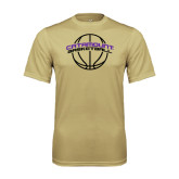 Performance Vegas Gold Tee-Basketball Ball Design