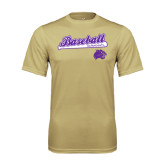 Syntrel Performance Vegas Gold Tee-Baseball Script w/ Bat Design