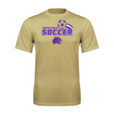 Performance Vegas Gold Tee-Soccer Swoosh Design