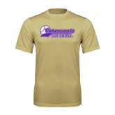 Performance Vegas Gold Tee-Softball Script Design