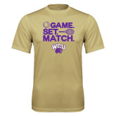 Performance Vegas Gold Tee-Game Set Match Tennis Design