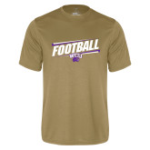 Performance Vegas Gold Tee-Football Fancy Lines