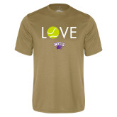 Performance Vegas Gold Tee-Love Tennis
