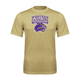 Performance Vegas Gold Tee-Western Carolina Catamounts Stacked