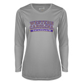 Ladies Syntrel Performance Platinum Longsleeve Shirt-Western Carolina Catamounts
