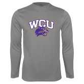 Performance Platinum Longsleeve Shirt-WCU w/Head