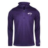 Russell Purple Heather 1/4 Zip-WCU w/Head