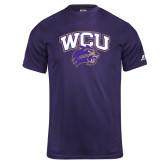 Russell Core Performance Purple Tee-WCU w/Head