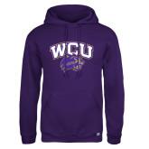 Russell DriPower Purple Fleece Hoodie-WCU w/Head