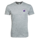 Next Level SoftStyle Heather Grey T Shirt-WCU w/Head