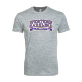 Next Level SoftStyle Heather Grey T Shirt-Western Carolina Catamounts