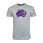 Next Level SoftStyle Heather Grey T Shirt-Catamount Head