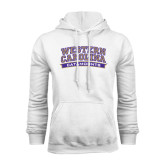 Champion White Fleece Hood-Western Carolina Catamounts
