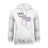 Champion White Fleece Hood-WCU