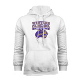 Champion White Fleece Hood-Western Carolina Catamounts Stacked
