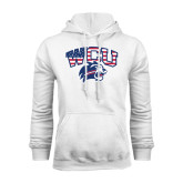 White Fleece Hoodie-Stars and Stripes