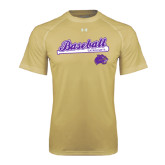 Under Armour Vegas Gold Tech Tee-Baseball Script w/ Bat Design