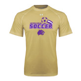 Under Armour Vegas Gold Tech Tee-Soccer Swoosh Design