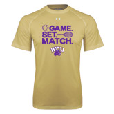 Under Armour Vegas Gold Tech Tee-Game Set Match Tennis Design