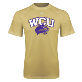 Under Armour Vegas Gold Tech Tee-WCU w/Head