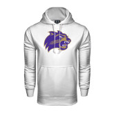 Under Armour White Performance Sweats Team Hood-Catamount Head