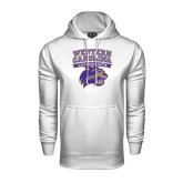 Under Armour White Performance Sweats Team Hood-Western Carolina Catamounts Stacked