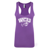 Next Level Ladies Purple Berry Jersey Racerback Tank-WCU w/Head