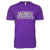Next Level SoftStyle Purple T Shirt-Western Carolina Catamounts