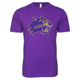 Next Level SoftStyle Purple T Shirt-Catamount Head