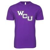 Next Level SoftStyle Purple T Shirt-WCU