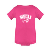 Fuchsia Infant Onesie-WCU w/Head