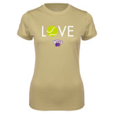 Ladies Syntrel Performance Vegas Gold Tee-Love Tennis