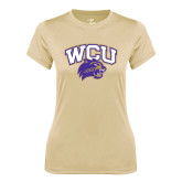 Ladies Syntrel Performance Vegas Gold Tee-WCU w/Head