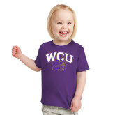 Toddler Purple T Shirt-WCU w/Head