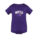 Purple Infant Onesie-WCU w/Head
