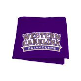 Purple Sweatshirt Blanket-Western Carolina Catamounts