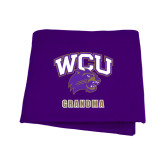 Purple Sweatshirt Blanket-Grandma