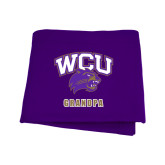Purple Sweatshirt Blanket-Grandpa