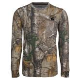 Realtree Camo Long Sleeve T Shirt w/Pocket-WCU w/Head Tone