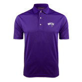 Purple Dry Mesh Polo-WCU w/Head