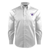 Red House White Dobby Non Iron Long Sleeve Shirt-WCU w/Head