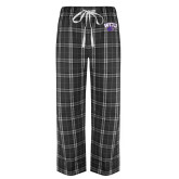 Black/Grey Flannel Pajama Pant-WCU w/Head