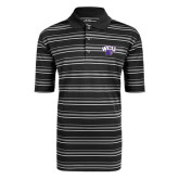 Adidas Climalite Black Textured Stripe Polo-WCU w/Head
