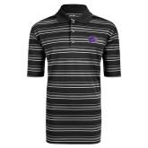 Adidas Climalite Black Textured Stripe Polo-Catamount Head