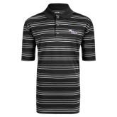 Adidas Climalite Black Textured Stripe Polo-WCU