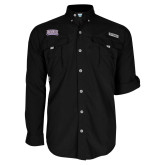 Columbia Bahama II Black Long Sleeve Shirt-Western Carolina Catamounts