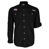 Columbia Bahama II Black Long Sleeve Shirt-Western Carolina Catamounts