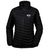 Columbia Mighty LITE Ladies Black Jacket-WCU w/Head
