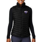 Columbia Mighty LITE Ladies Black Vest-WCU w/Head
